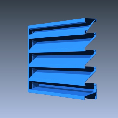 4 Inch Fixed Formed Non Drainable Industrial Louvers Inc