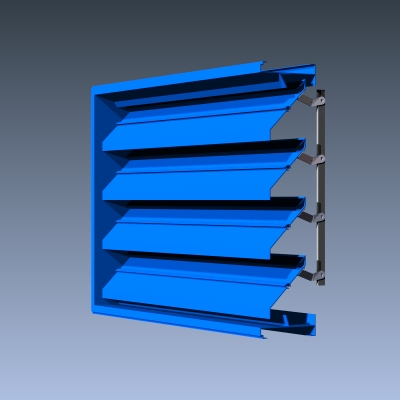 6 Inch Exposed Link Adjustable Louvers Industrial Louvers Inc