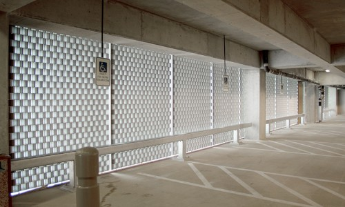 Decorative Grille Parking Ramp