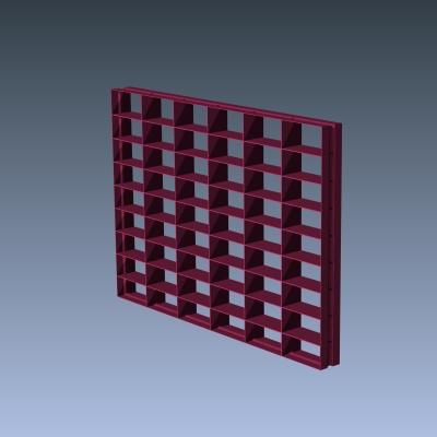 Decorative grilles decorative screens hide equipment for Decorative louvers