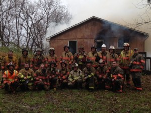 Local fire-fighters from Delano and nearby townships trained by fighting a fire on ILI property.