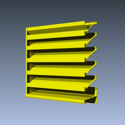 4 Inch Fixed Extruded Drainable Louvers Industrial Louvers